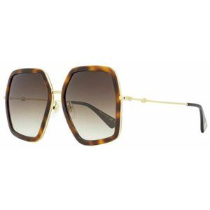 Gucci Square Style Brown Gradient Lens